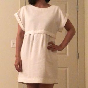 Madewell Dresses - Madewell white blanca jacquard dress in size S